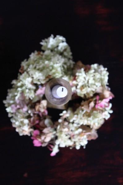 DIY Hortensien als Kranz geflochten